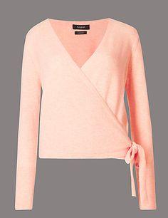 Pure Cashmere Ballet Wrap Cardigan | M&S