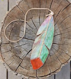 Stained Glass Cedar Waxwing Feather by The Wilderness Workshop on Scoutmob Shoppe Stained Glass Designs, Stained Glass Panels, Stained Glass Projects, Stained Glass Patterns, Leaded Glass, Stained Glass Art, Mosaic Glass, Fused Glass, Stained Glass Ornaments