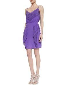 Gloria Silk Lace Dress by Valentina Shah at Neiman Marcus.
