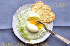 Ovetto barzotto con  pesto cremoso di finocchietto #cucinaparadiso #uovo #finocchietto #pesto #light #egg #fennel