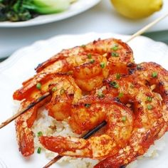 A quick and easy grilled shrimp recipe! It's Korean-flavored.