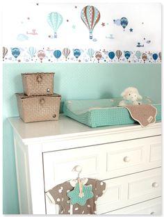 hei luftballons boys taupe mint selbstklebende. Black Bedroom Furniture Sets. Home Design Ideas