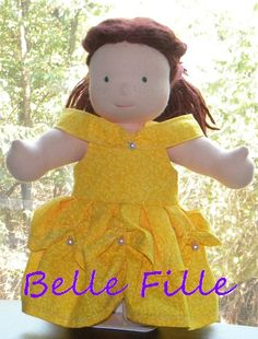 Custom Belle Dress for 15 doll by adriatate on Etsy, $25.00