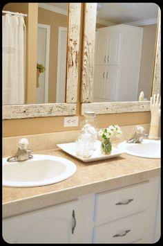 Bathroom mirrors.