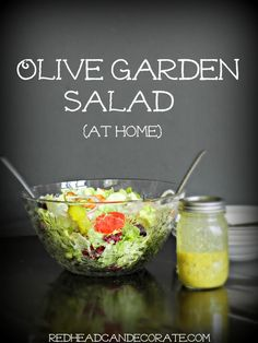 How to make your own Olive Garden Salad, just like theres but way better for you! This version is made with olive oil.