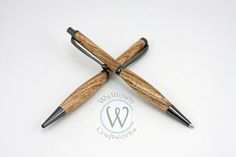 Gun Metal Gray Slimline pen and pencil set made with Bali wood by WalltownCraftworks on Etsy
