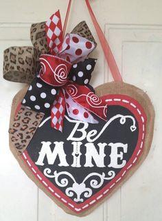Burlap Valentines Door Hanger by WreathsbyDesign1 on Etsy