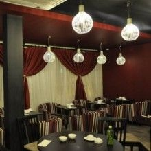 Moji Restaurant in Newcastle Upon Tyne, Off Meals, Max Exc Fri & Sat Newcastle Restaurants, East Restaurant, Valance Curtains, Ceiling Lights, Meals, Home Decor, Cafes, Decoration Home, Meal