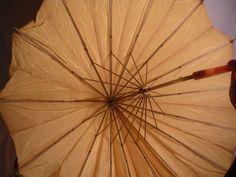Vintage Yellow Umbrella Parasol Bakelite Lucite Hoop Handle