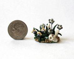 1 4 Scale Miniature Witch Garden Flower Patch with Bones OOAK C Rohal | eBay