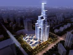 """""""Blue Diamond"""" mixed-use Tower, Eco-City. China. By Kevin Kennon AIA NCARB"""