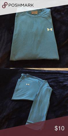 Under Armour long sleeve shirt Blue shirt with white Under Armour on chest. Long sleeve loose fit heat gear Under Armour Shirts Tees - Long Sleeve