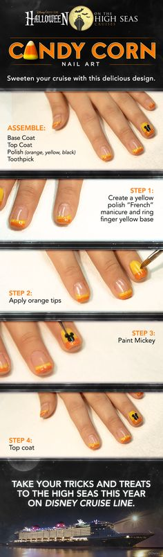 Sweeten your Disney Cruise with this delicious DIY manicure design! Click to learn more about our Halloween on the High Seas sailings.