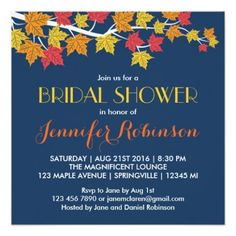Beautiful blue and orange wedding invitations and maple leaves navy blue fall wedding invitation 81 navy . Orange Wedding Invitations, Wedding Invitation Size, Engagement Party Invitations, Rustic Invitations, Shower Invitations, Invites, Navy Fall Weddings, Fall Wedding Colors, Yellow Wedding