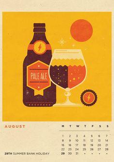 Illustrated Calendar 2016 - Seasonal Refreshments. on Behance