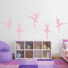 Black Ballet Wall Decals | Wall Stickers
