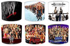 WWE Wrestling Lamp Shades Ideal To Match Duvets, Bedding, Curtains, Cushions Boys Room Design, Boys Room Decor, Boy Room, Kids Room, Air Max Thea, Air Max 90, Wwe Bedroom, Wwe Birthday, Watch Wrestling