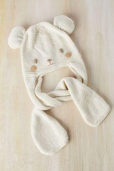 El blog de Dmc: Patrón tricot de regalo: gorro osito con Woolly
