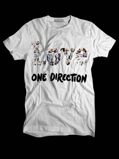 Love One Direction White Custom T shirts,Band Merchandise,Tees,Clothing,Short sleeve (Made in USA)