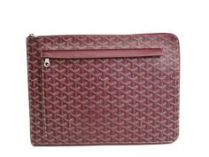 #GOYARD Sorbonne Document Case Canvas/Leather Bordeaux (BF114213) Authenticity guaranteed, free shipping worldwide & 14 days return policy. Shop more #preloved brand items at #eLADY: http://global.elady.com