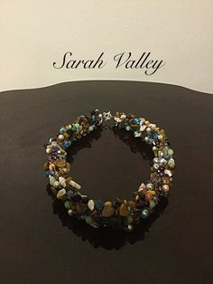 Wire crochet chunky necklace, women's jewellery, unique jewellery, women's accessories, handmade necklace.