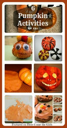 6 FUN Pumpkin activities for kids - featured on the Sunday Showcase. Perfect for HALLOWEEN!