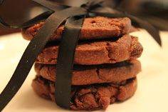 Chocolate Sable Cookie by TC Paris:  The French Sable is the most traditional shortbread cookies.  Made with 100% cocoa and chunks of Valrhona Dark Chocolate. @valrhonausa