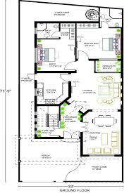 Image result for 10 marla house plans Home Map Design, Plan Design, Modern House Design, Free House Plans, House Floor Plans, 10 Marla House Plan, Home Shelter, House Map, Architecture