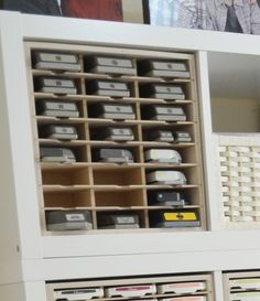 Paper Craft Storage in IKEA Shelving - Stamp-n-Storage