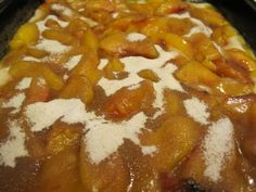 Dessert is always a good thing. This dessert is make from a simple combination of ingredients that go together quickly to create a sweet and delicious cobbler with minimum stress for the cook. Nectarine Cobbler, Top With Cinnamon, Food Words, Something Sweet, Fresh Fruit, Pantry, Favorite Recipes, Sweets, Sugar
