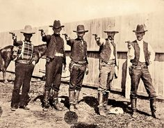 These five Texas Rangers at camp near Alice most likely investigated cattle rustling claims from the legendary King Ranch, which, as Emmett Robuck's story shows, could bring an early visit from the Grim Reaper.