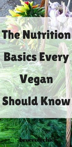 The nutrition basics every vegan should know to have a healthy lifestyle.