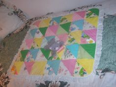 30x35 Quilted Newborn Travel Size Multicolor Pastel by 2lewa