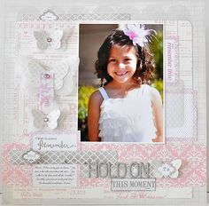 Sweet Afternoon Layout by Suzanne Sergi Scrapbooking Layouts, Scrapbook Pages, Teresa Collins, Something To Remember, Layout Inspiration, Mini Albums, Flower Girl Dresses, Girly, Paper Crafts