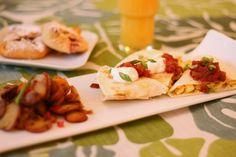 inspired by charm: breakfast quesadillas
