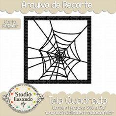 Square Web, Teia Quadrada, Aranha, Spider, Halloween, Dia das Bruxas, Corte Regular, Regular Cut, Silhouette, DXF, SVG, PNG