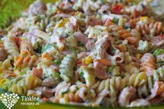 Studený cestovinový šalát - Powered by Slovak Recipes, Russian Recipes, Cooking Recipes, Healthy Recipes, Healthy Food, Pasta Salad, Salads, Sandwiches, Food And Drink