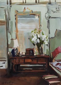 ◇ Artful Interiors ◇ paintings of beautiful rooms - David Lloyd