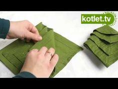 Jak złożyć serwetkę w choinkę - KOTLET.TV - YouTube