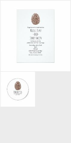 Rustic Pine Cone Simple Country Weddiing