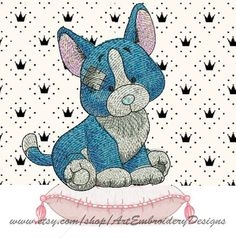 """Dog Corgi """"Jewel"""" - Machine Embroidery Designs Set for a Babies and Children of a series """"Old Toy"""""""