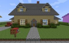 Detail For : Minecraft House HD Wallpaper Picture