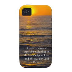 2 Peter 1:2 iPhone 4 Covers by Scripture Classics #zazzle #gift #photogift #christian #bible