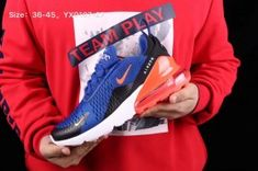 f81c3dc7d79df7 Advanced Design Nike Air Max 270 Royal Blue Red Black White Women s Men s  Running Shoes Sneakers