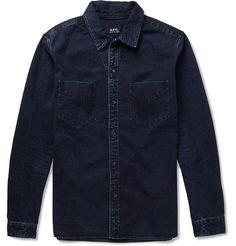 A.P.C. - Washed-Denim Shirt | MR PORTER