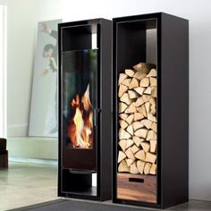 the skantherm turn wood burning stove this ultra modern wood stove features a very unsual. Black Bedroom Furniture Sets. Home Design Ideas