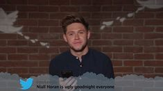 'He is ugly': Niall Horan, 24, looked genuinely upset during the Mean Tweets part of the s... #niallhoran #onedirection