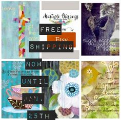 FREE SHIPPING on all art prints until Monday, January 25th! Read more for special code! ~Multiple Blessings by Caroline Simas ETSY STUDIO SHOP!