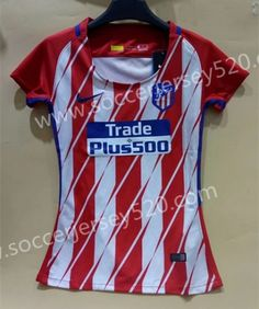 06b3dfda399 17-18 Atlético Madrid Home Red Thailand Female Soccer Jersey AAA Kids Soccer