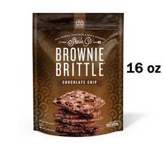 Brownie Brittle's 1-lb OMG bag of chocolate goodness, and only 120 calories-per-ounce.  You can afford to indulge!  Get yours today at http://shop.browniebrittle.com.